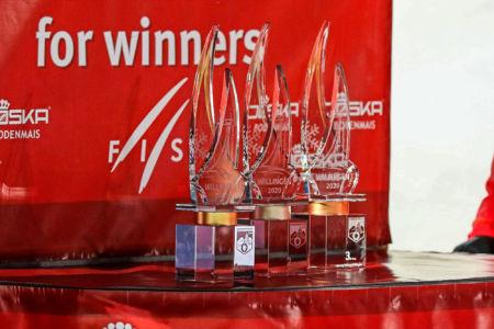 WC Willingen 2020 - podium trophies