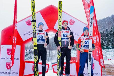 1.David Haagen, 2. Jaka Hvala, 3. Cene Prevc - FIS Cup Zakopane 2019