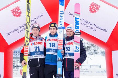 1. Claudio Moerth, 2. Maximilian Lienher, 3. Dušan Doležel - FIS Cup Zakopane 2019