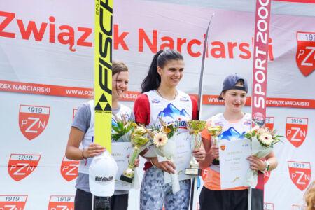 1. Daniela Haralambie, 2. Elisabeth Raudaschl, 3. Kinga Rajda - FIS Cup Szczyrk 2018