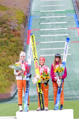 1. Katharina Althaus, 2. Pauline Hessler, 3. Juliane Seyfarth - WsCoC Oslo 2021