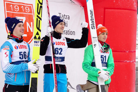 CoC Zakopane 2017 - Podium 1. Clemens Aigner, 2. Maximilian Steiner, 3. Constantin Schmis