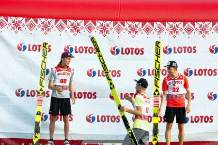 FIS CUP Szczyrk 2019 - Podium: 1. Tim Fuchs, 2. Maximilian Lienher, 3. Maximilian Steiner