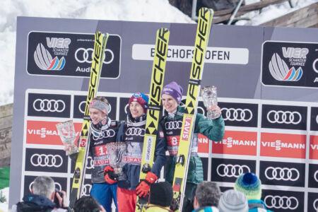 Kamil Stoch, Anders Fannemel, Andreas Wellinger - WC Bischofshofen 2018