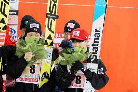 PŚ Lahti 2019 - Ryōyū Kobayashi, Junshirō Kobayashi, Yukiya Satō, Daiki Itō