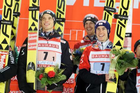 WC Lahti 2019 - Philipp Aschenwald, Stefan Kraft, Gregor Schlierenzauer, Michael Hayböck
