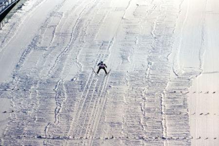 PŚ Lillehammer 2019 - Skoczek w locie