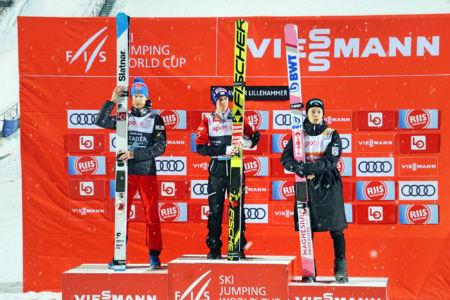 PŚ Lillehammer 2019 - 1. Stefan Kraft, 2. Robert Johansson, 3. Ryōyū Kobayashi