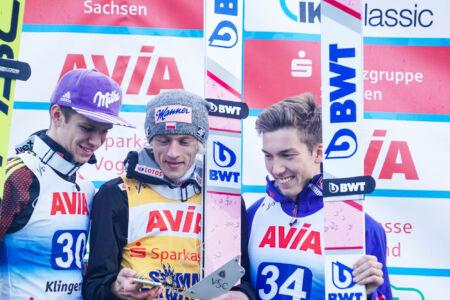 SGP Klingenthal 2017 - Dawid Kubacki, Andreas Wellinger, Johann André Forfang