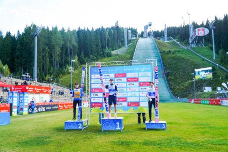 1. Ryōyū Kobayashi, 2. Halvor Egner Granerud, 3. Johann André Forfang - SGP Klingenthal 2021
