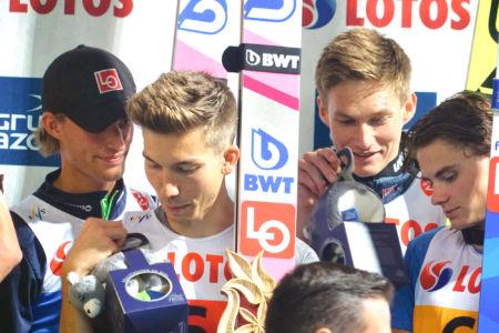 SGP Wisła 2019 Team - Johann André Forfang, Marius Lindvik, Daniel-André Tande, Robin Pedersen