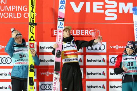 WC Engelberg 2019 - 1.Ryōyū Kobayashi, 2. Peter Prevc, 3. Jan Hörl