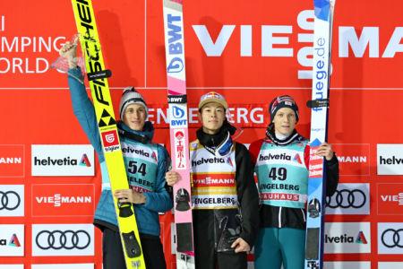 WC Engelberg 2019 - 1. Ryōyū Kobayashi, 2. Peter Prevc, 3. Jan Hörl