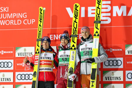 WC Engelberg 2019 - Podium ceremony