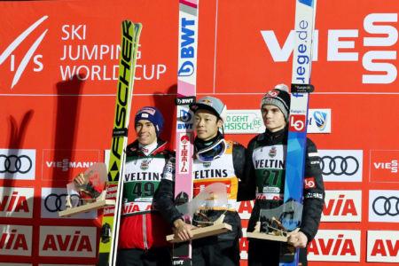 WC Klingenthal 2019 - 1. Ryōyū Kobayashi, 2. Stefan Kraft, 3. Marius Lindvik
