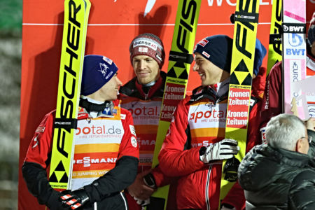 WC Klingenthal 2019 - Team Austria (Michael Hayböck, Philipp Aschenwald, Stefan Kraft)