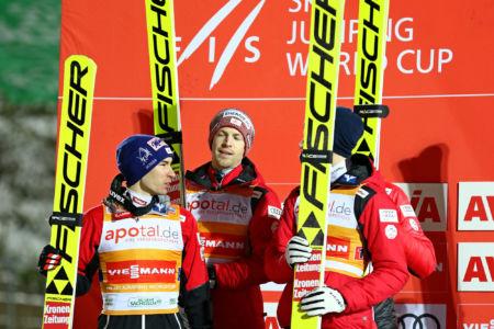 WC Klingenthal 2019 - Team Austria (Michael Hayböck, Stefan Kraft)