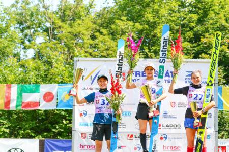 1. Sara Takanashi, 2.Nozomi Maruyama, 3.Silje Opseth - SGP Frenštát 2021