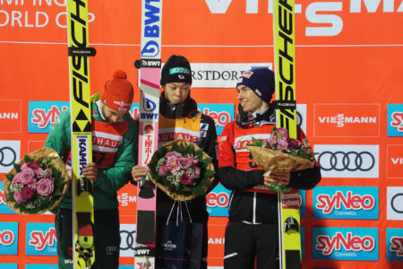 WC Oberstdorf 2019 - Ryōyū Kobayashi, Markus Eisenbichler, Stefan Kraft